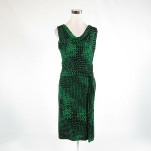 Black green DAVID LAWRENCE A-line dress S